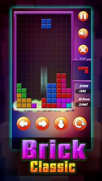 Brick Classic Puzzle of tetris poster