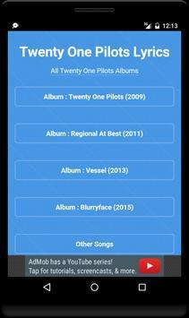 Best Music Lyrics Twenty One Pilots poster