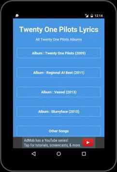 Best Music Lyrics Twenty One Pilots apk screenshot