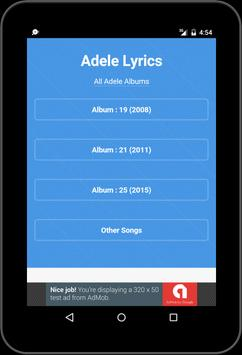 Best Music Lyrics Adele apk screenshot