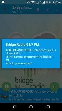 Bridge Radio 98.7 poster