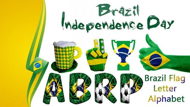 Brazil Independence Day – Brazil Flag Letter Name poster