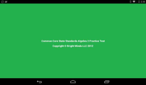 Common Core Algebra 2 poster