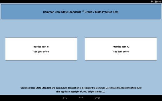 Common Core Grade 7 screenshot 1