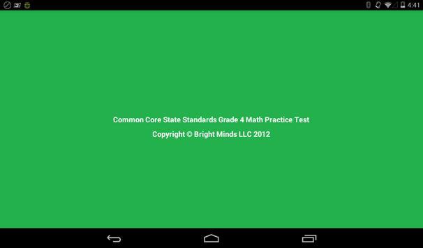 Common Core Grade 4 Math Lite poster