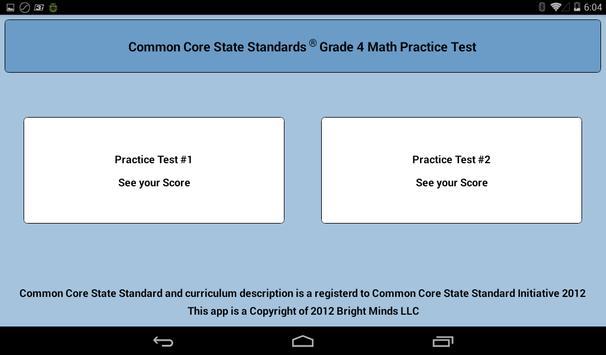 Common Core Grade 4 Math Lite apk screenshot