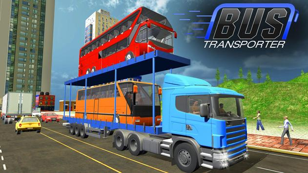 Bus Transporter Truck 2017 - City Bus Simulator apk screenshot