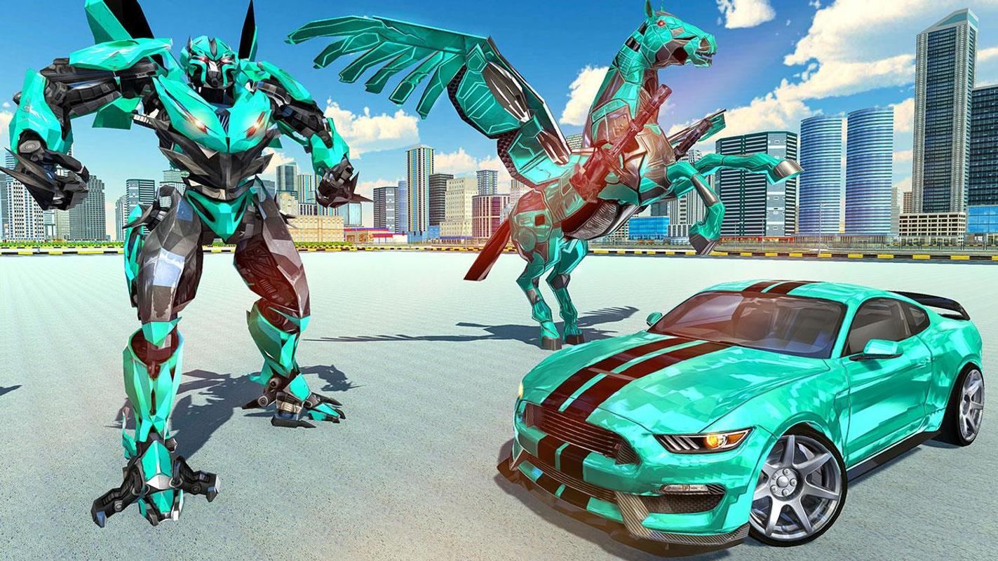 US-Polizei Trans Roboter-Auto Unicorn Flying Horse für Android - APK ...