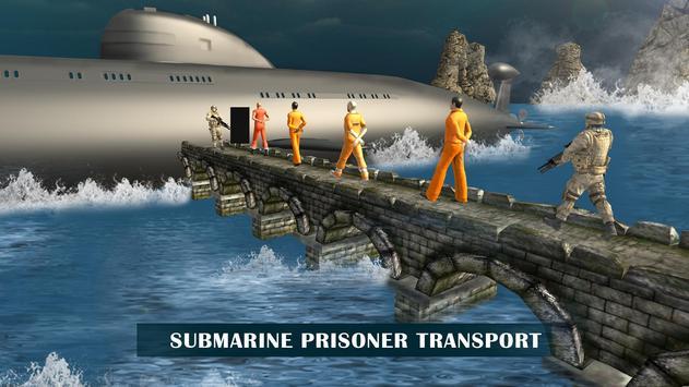 US Army Prisoner Transport Submarine Driving Games screenshot 4