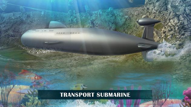 US Army Prisoner Transport Submarine Driving Games apk screenshot