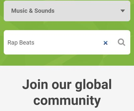 Rap Beats Hip Hop Instrumental captura de pantalla de la apk