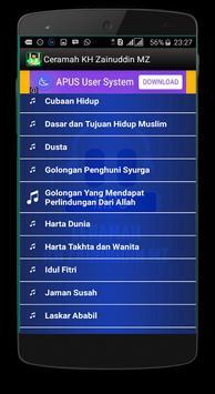 Ceramah KH Zainuddin MZ apk screenshot