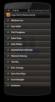Lagu Demy Lengkap Banyuwangi apk screenshot