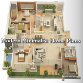 Modern Minimalist Home Plan icon