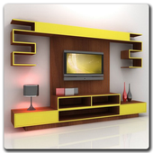 Shelves TV Furniture Design icon