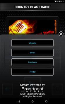 COUNTRY BLAST RADIO apk screenshot