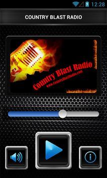 COUNTRY BLAST RADIO poster
