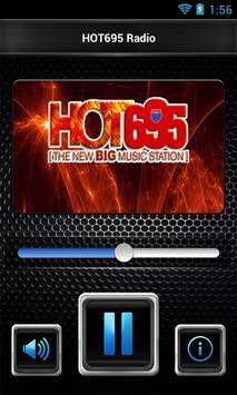 HOT695 Radio poster