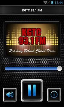 KGTC 93.1 FM poster