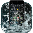 Rain Broken Glass Theme-APK