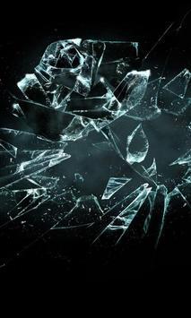broken glass wallpaper poster