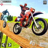 Superheroes Bike Stunts Master : Crazy Bike Rider icon