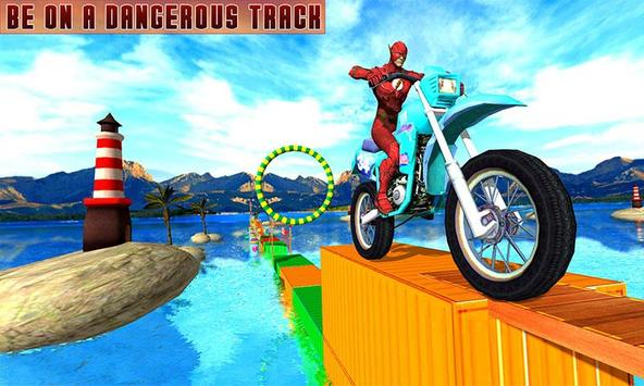 Superheroes Bike Stunts Master : Crazy Bike Rider screenshot 5