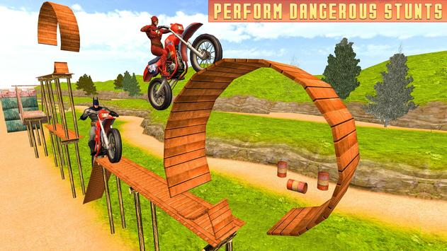 Superheroes Bike Stunts Master : Crazy Bike Rider screenshot 7