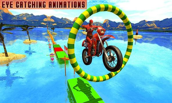 Superheroes Bike Stunts Master : Crazy Bike Rider poster