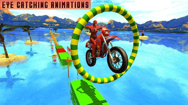 Superheroes Bike Stunts Master : Crazy Bike Rider screenshot 10