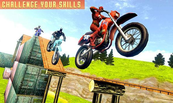 Superheroes Bike Stunts Master : Crazy Bike Rider screenshot 2