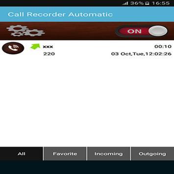 Call Recorder Automatic 2018 screenshot 5