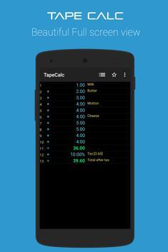 TapeCalc screenshot 2