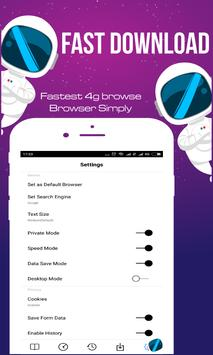 Fastest 4G Browse - Fast and Simply screenshot 2