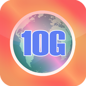 10G speed browser icon