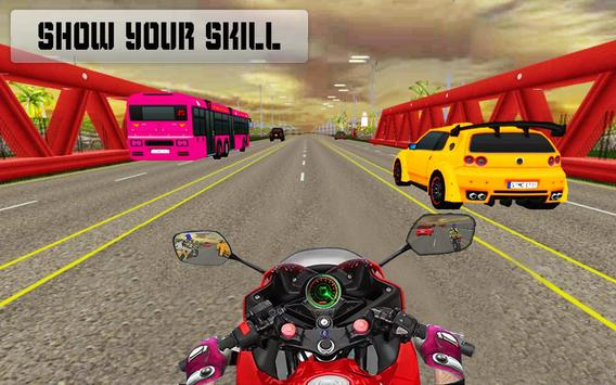 New Traffic Rider 3D: Heavy Duty Bike Racing Game poster