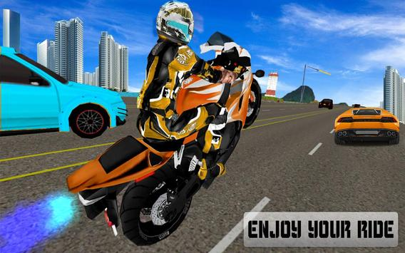 New Traffic Rider 3D: Heavy Duty Bike Racing Game screenshot 1