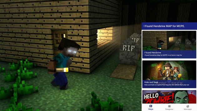 i found herobrine map for mcpe for android apk download