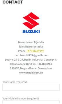 NurulSuzuki: Suzuki Brunei Sales Representative screenshot 5