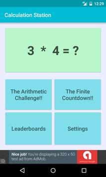 Math Quiz-Calculation Station poster