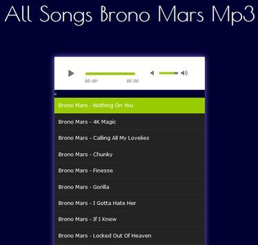 All Songs Bruno Mars Hits screenshot 1