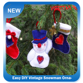Easy DIY Vintage Snowman Ornament icon