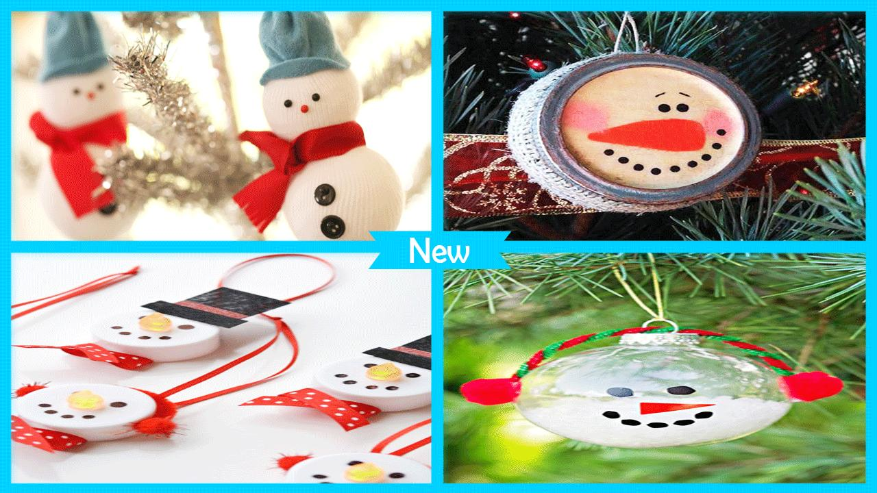 Easy DIY Vintage Snowman Ornament poster