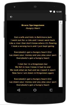 Best Lyrics Bruce Springsteen screenshot 1