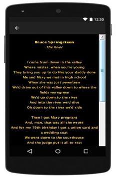 Best Lyrics Bruce Springsteen screenshot 2