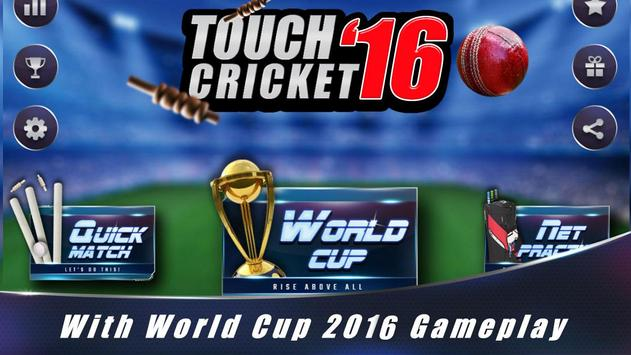 Touch Cricket T20 World Cup 16 poster