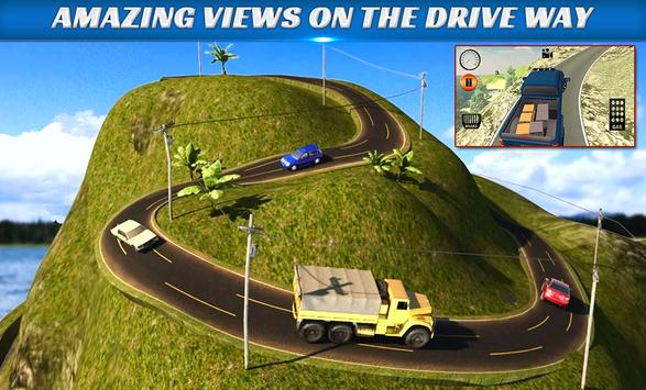 Truck Driver Transport offroad poster