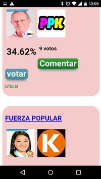 Elecciones Perú 2016 apk screenshot