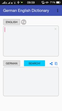 German English Dictionary poster