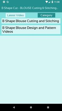 B Shape Cut - BLOUSE Cutting & Stitching Videos screenshot 2
